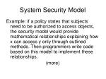 system security model