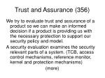 trust and assurance 356