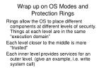 wrap up on os modes and protection rings