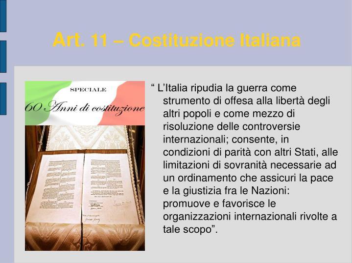 Art 11 costituzione italiana