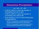 dissolution precipitation
