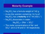molarity example