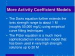 more activity coefficient models
