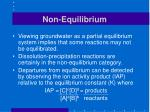 non equilibrium