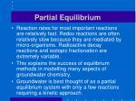 partial equilibrium