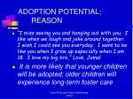adoption potential reason