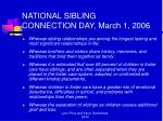 national sibling connection day march 1 2006