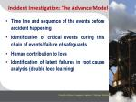 incident investigation the advance model