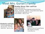 meet mrs gurian s family