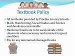 textbook policy