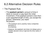 6 2 alternative decision rules
