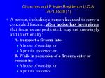 churches and private residence u c a 76 10 530 1