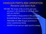 handgun parts and operation revolver and semi auto