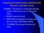 handgun parts and operation revolver and semi auto14