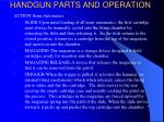 handgun parts and operation16