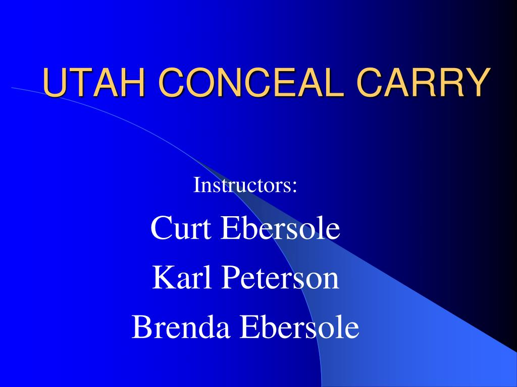 utah conceal carry l.