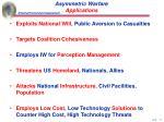 asymmetric warfare applications