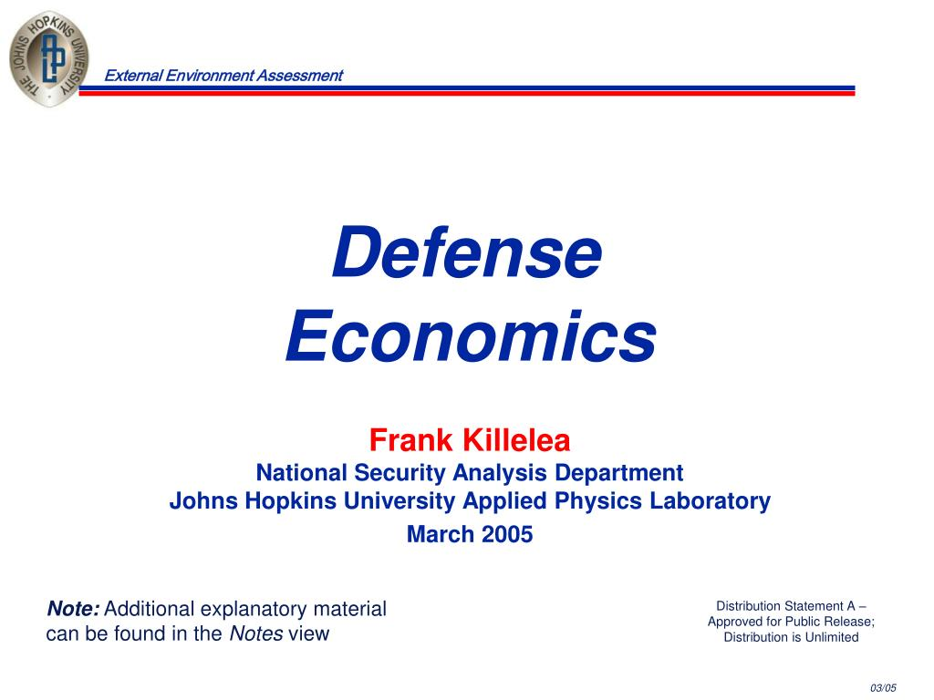 defense economics l.