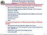 defense economics summary impact on us military spending