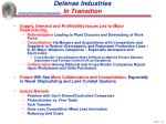 defense industries in transition