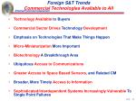 foreign s t trends commercial technologies available to all