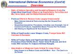 international defense economics cont d overview10