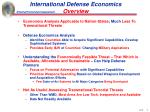 international defense economics overview