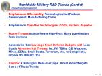 worldwide military r d trends cont d
