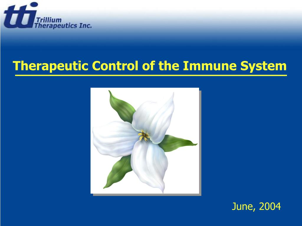 therapeutic control of the immune system l.