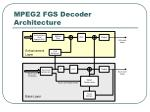 mpeg2 fgs decoder architecture