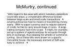 mcmurtry continued