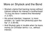 more on shylock and the bond