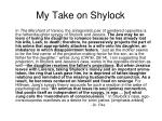 my take on shylock