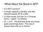 what about the bond in mv