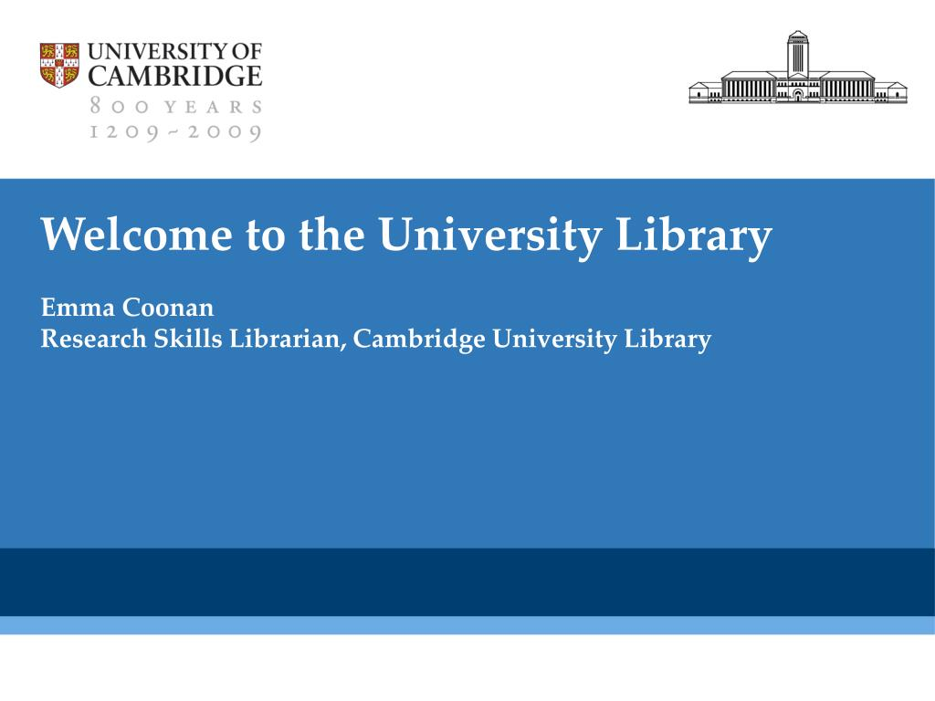 welcome to the university library l.