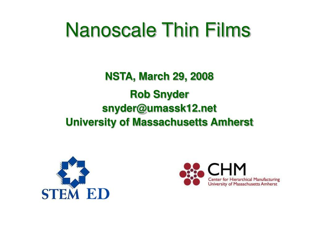 nanoscale thin films l.