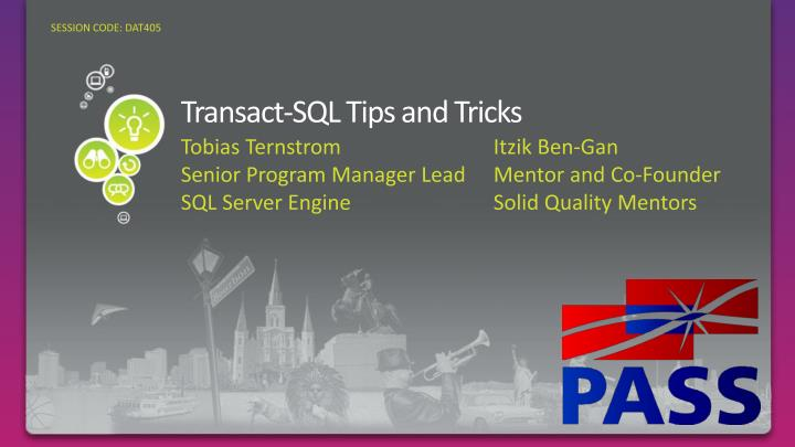 transact sql tips and tricks n.