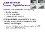 depth of field in compact digital cameras