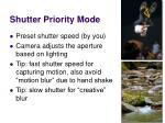 shutter priority mode