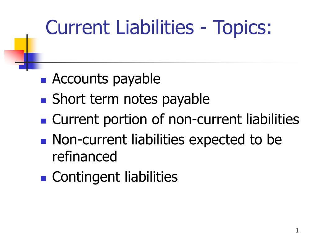 current liabilities topics l.