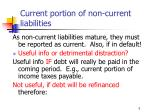 current portion of non current liabilities