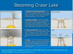 becoming crater lake