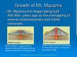 growth of mt mazama