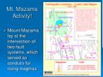 mt mazama activity