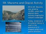 mt mazama and glacial activity
