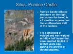 sites pumice castle