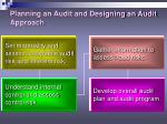 planning an audit and designing an audit approach6