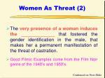 women as threat 2