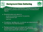 background data gathering