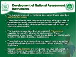 development of national assessment instruments